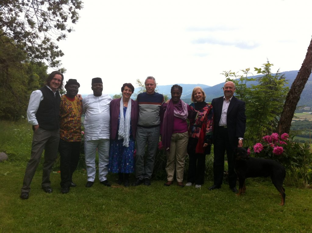 "With a PhD Group from Nigeria, South Africa, UK, and Slovenia at Trans4m's ""Home for Humanity"" in France (2013)"
