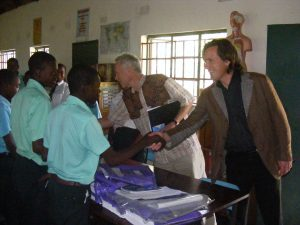 Alexander and Ronnie at St Vincent School near Harare in Zimbabwe