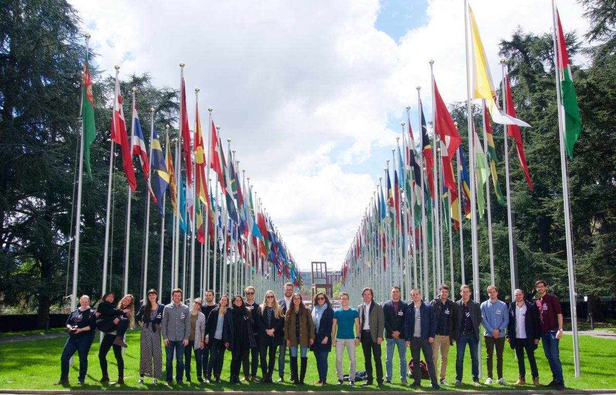 "With a Group of ""Integral Development"" Students from the University of St. Gallen at the UN in Geneva (2016)"