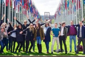 Integral Development Course 2016 of the University of St. Gallen - Closing Group Picture at the UN in Geneva