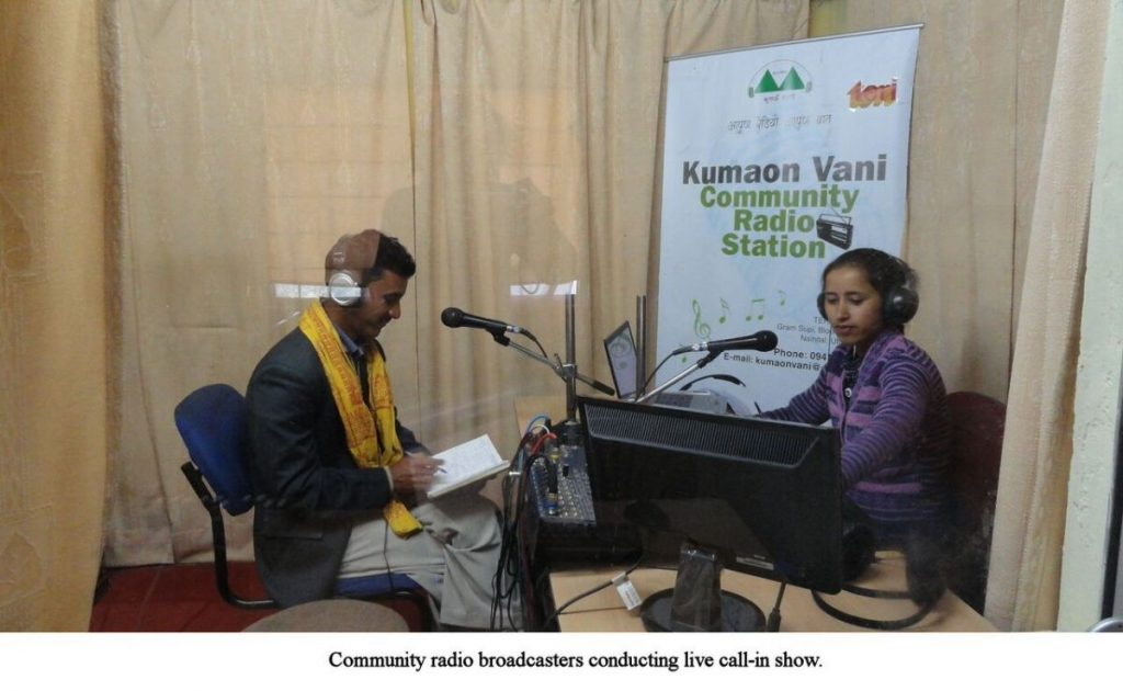 Radio Kumaon Vani conducting live call in show
