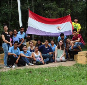 Arrived in Paraguay: With Students of Fundacion Paraguaya