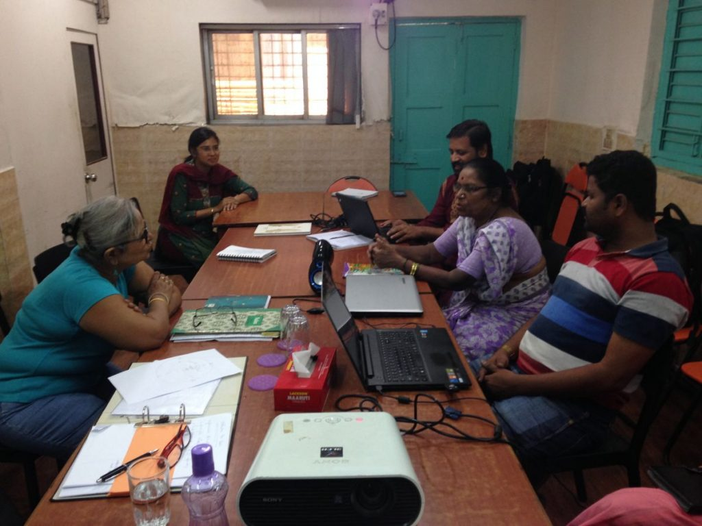 Coro's leadership team exploring its new Center for Grassroots Leadership with Trans4m, including with India's filmmaker Arunaraje Patel (June 2016)