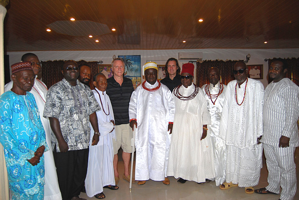 Trans4m Visit at Paxherbals in 2012, here with the King of Ewu