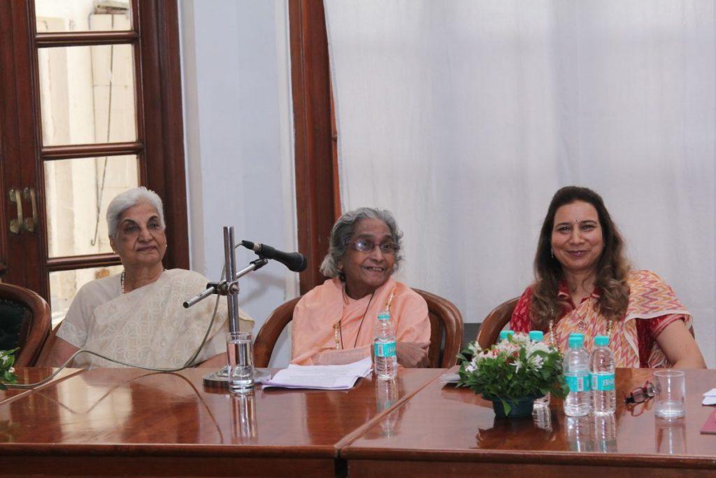 Dr. Durga Jain, Founder; Sister Gaitonde, Principal; Dr. Radhike Khanna, Vice Principal of S.P.J. Sadhana School