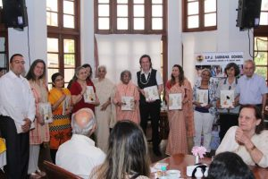 Book launch of VR Purntava - Sadhana's Integral Education Model by Trans4m Junior Fellow Silvan Büchler and Dr. Radhike Khanna (June 2016)