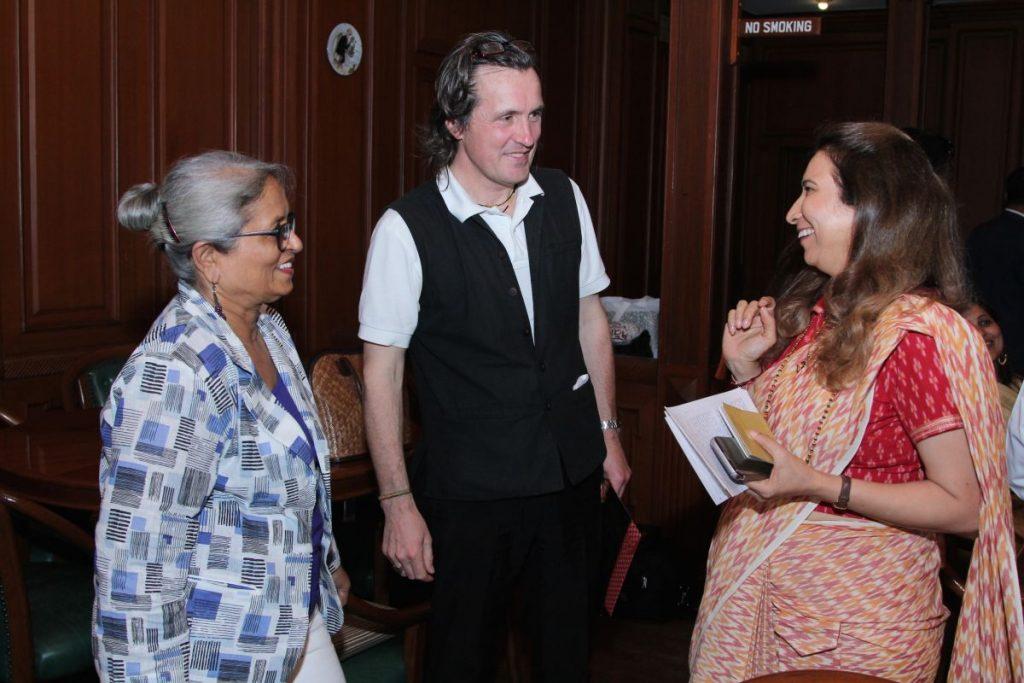 Documentary Filmmaker Arunaraje Patil with Alexander Schieffer & Radhike Khanna