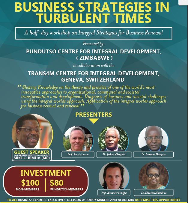 Pundutso Trans4m Workshop Official Advertisement 2016 06 28 Harare Zimbabwe