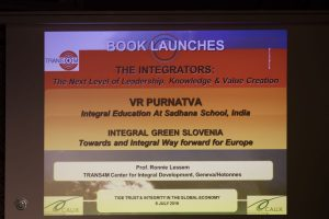 Two more Booklaunches: Trans4m presents The Integrators and V.R. Purnatva at TIGE Trust and Integrity for a Global Economy Conference in Switzerland
