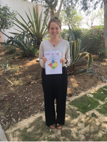 Annina Hunziker, happily holding the printed IPM Manual