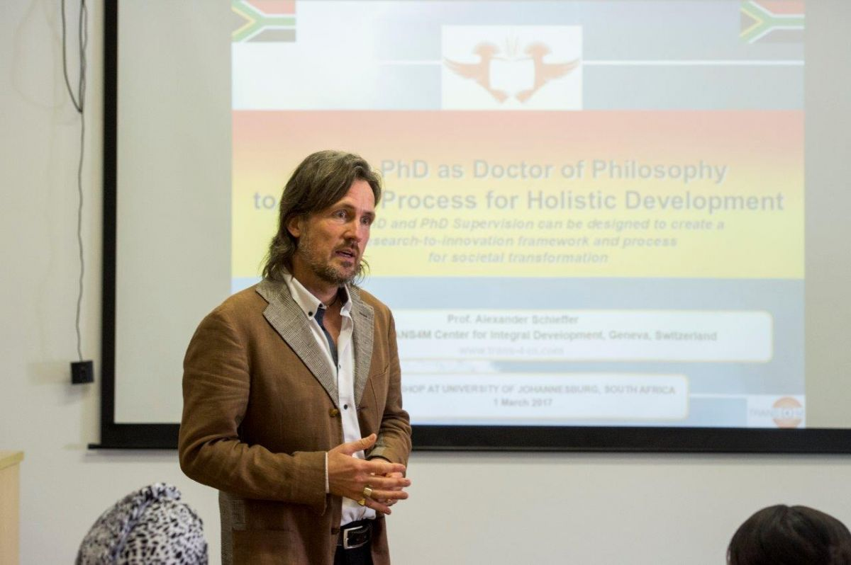 Workshop at UJ in South Africa: From PhD as Doctor of Philosophy to PHD as Process for Holistic Development