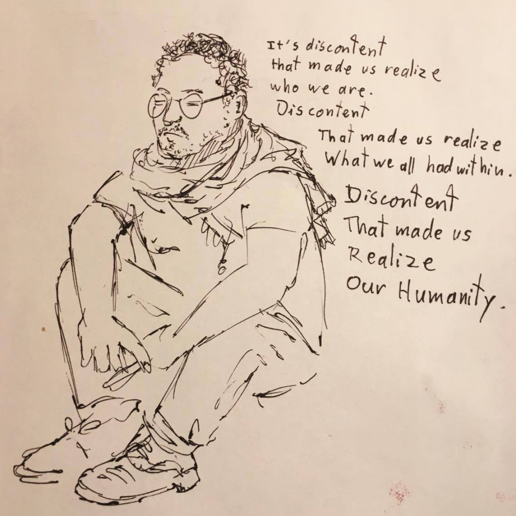 2017 04 11 Abdallah drawing by Victor Morgan