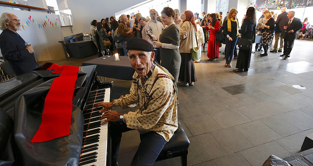 2017 04 Spirit of Humanity Forum Reykjavik Reception Four Arrows Piano