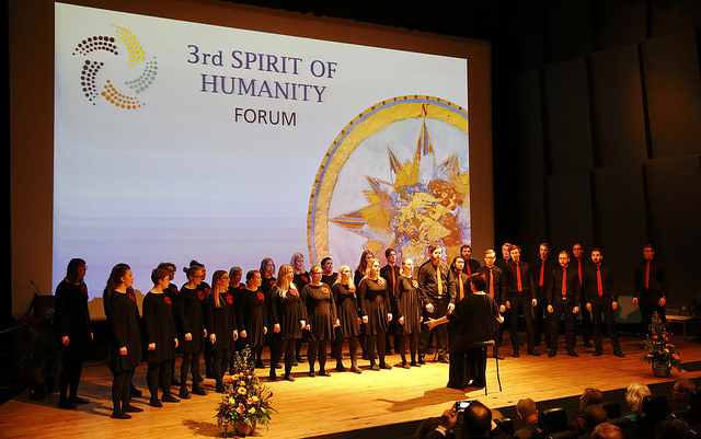 2017 04 Spirit of Humanity Forum Reykjavik Reception Opening Choir 1
