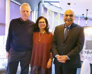 When TRANS4M met Akhuwat – With two of my most favourite teachers Prof Ronnie Lessem and Dr Amjad Saqib, Chairman Akhuwat Foundation, Pakistan