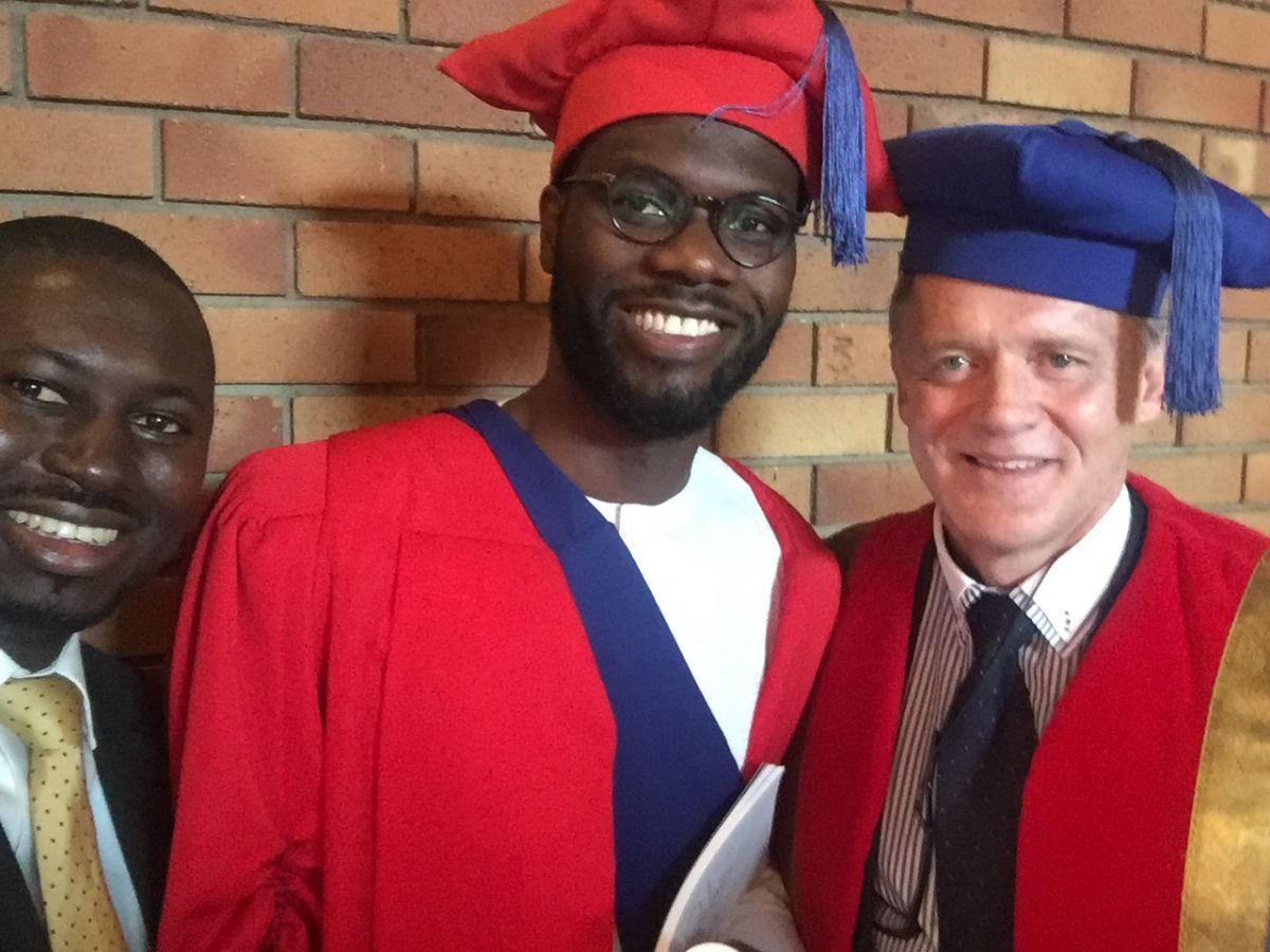 2017 09 14 Jubril Adeojo Graduation with Bennie Anderson Akeem Oyewale