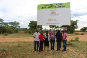 In the fields at Mamina Irrigation scheme