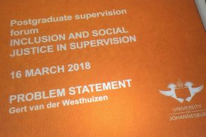 Inclusion and Social Justice in Postgraduate Supervision: Trans4m participates in first Postgraduate Supervision Forum at UJ in South Africa