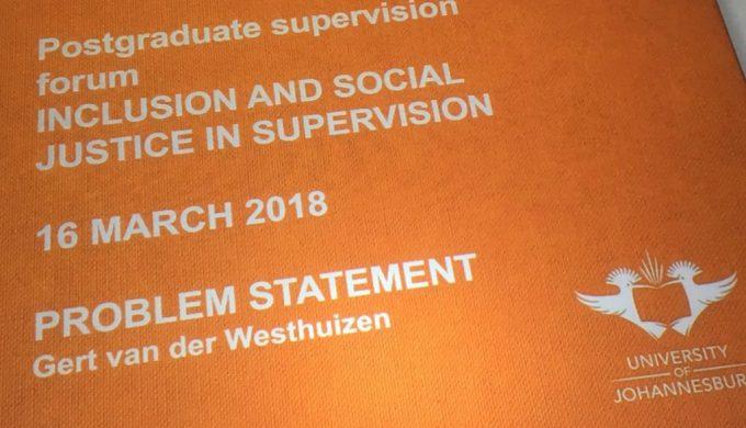 2018 03 16 University Johannesburg Supervision Forum Poster