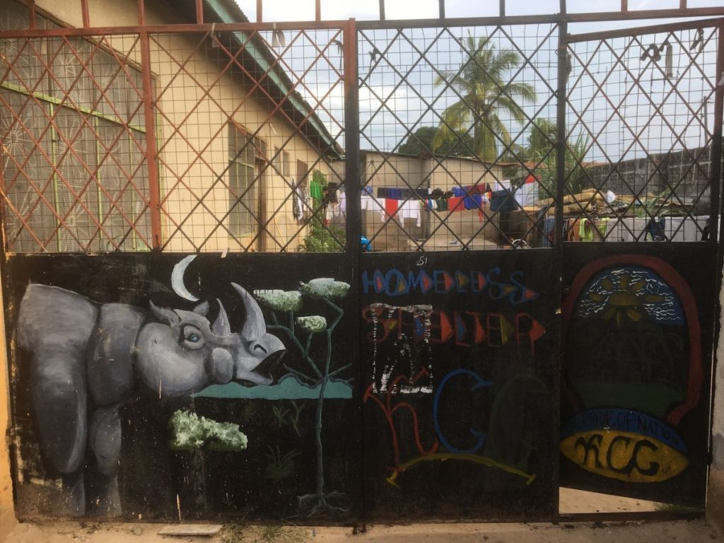 2018 03 18 Tanzania Kigamboni KCC Homeless Shelter Gate 1