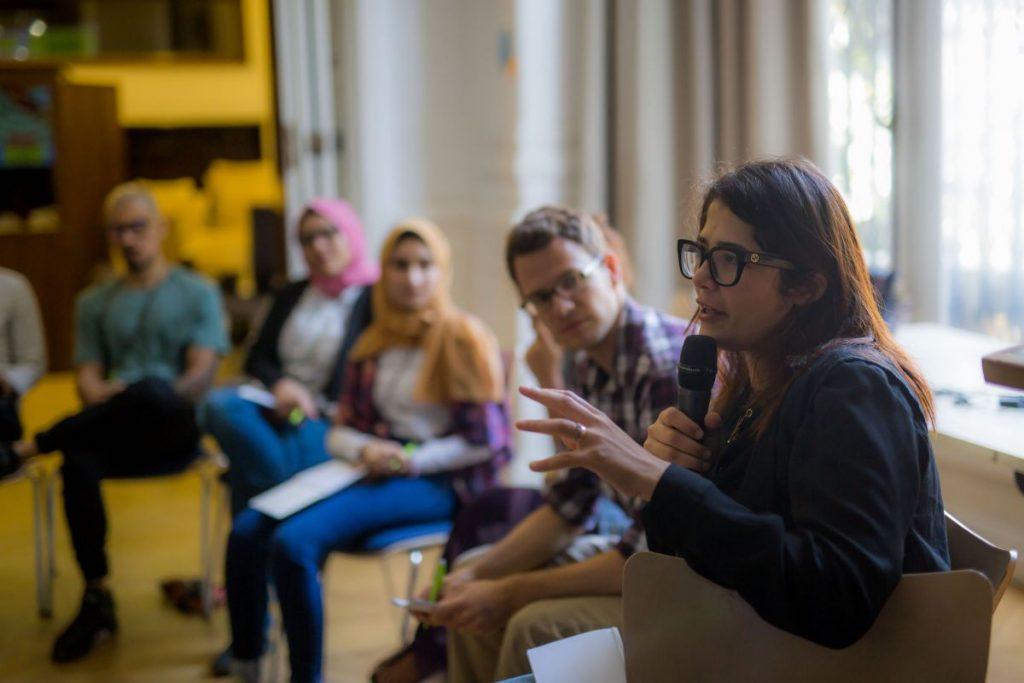 2018 06 08 Cairo Goethe Tahrir Lounge Workshop Mona Shahien Silvan Buechler