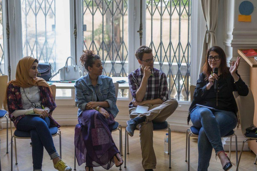 2018 06 08 Cairo Goethe Tahrir Lounge Workshop Mona Shahien Silvan Menna