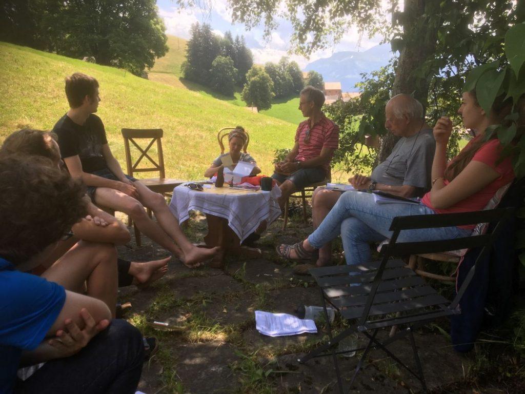 2018 06 18 Switzerland Beatenberg Education Retreat Group Work Outdoor 1