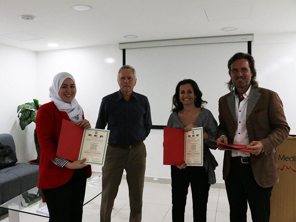 2018 06 26 Amman Manar Nimer Medlabs Community VIVA PHD Award Zeina Reem