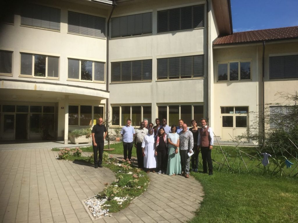 2018 09 11 Slovenia BC Naklo PhD Module Cohort 5 Group Picture with BC Naklo Outside