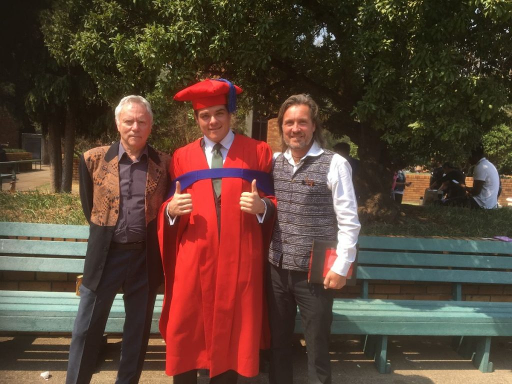 2018 09 20 Johannesburg Graduation Max Manar With Max Abouleish Alexander ROnnie 1
