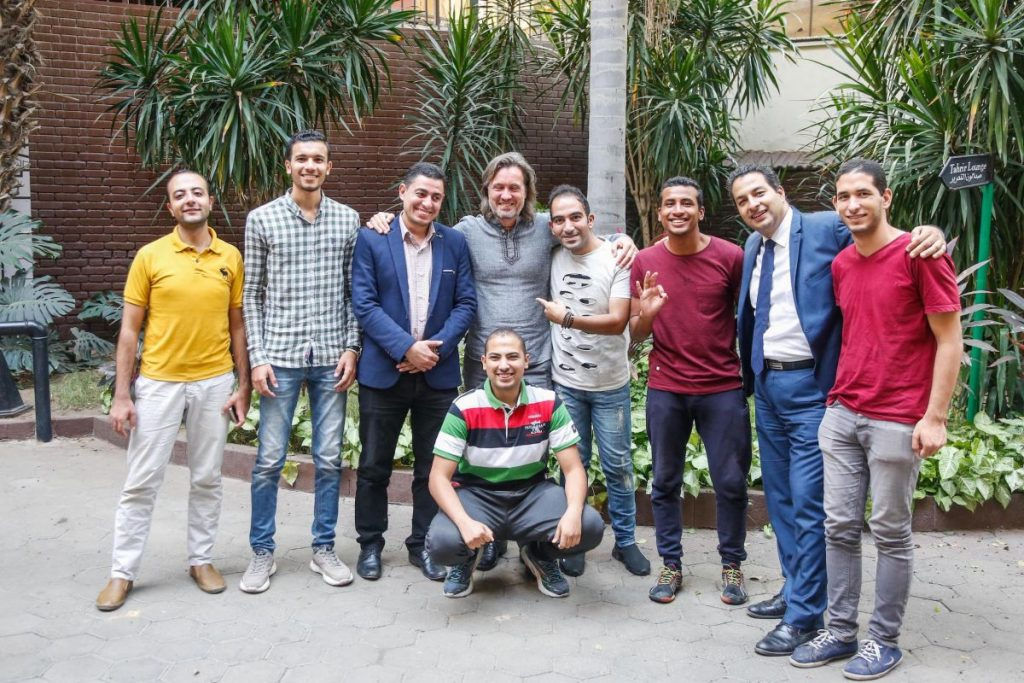 2018 10 20 Cairo Goethe Tahrir Workshop Participants Group Picture Men