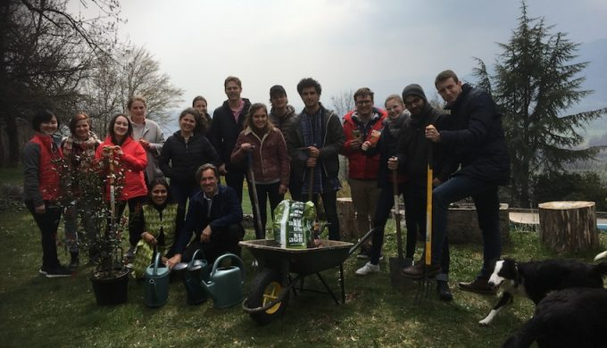 2019 04 08 Integral Development Course 2019 at H4H Full Group Pic with Rama and Alexander in Garden