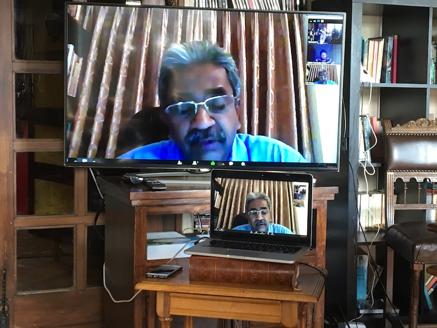 2019 04 08 Integral Development Course 2019 at H4H Zoom Call Sarvodaya Vinya