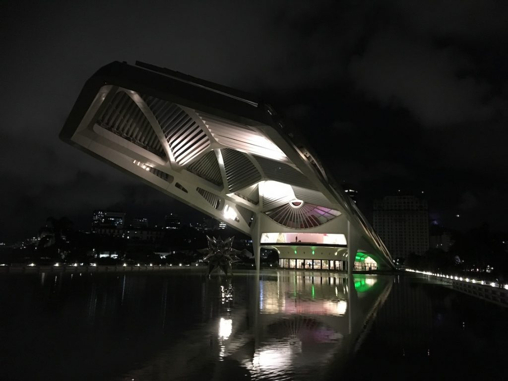 2019 05 20 Brazil Museum of Tomorrow Building 7 Night