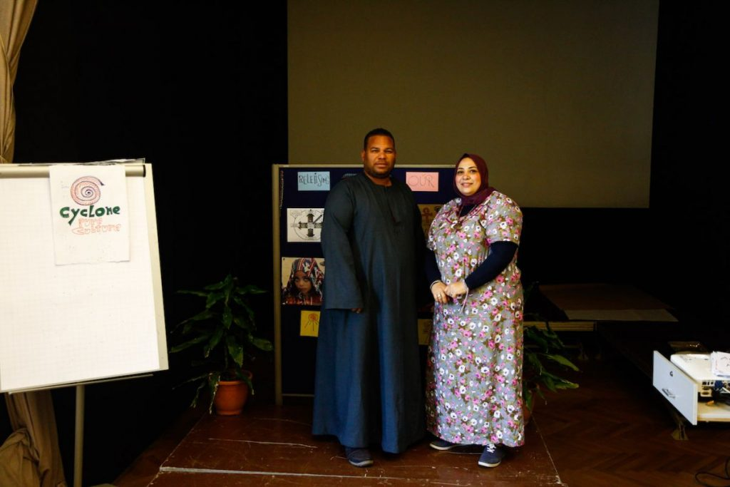 2019 06 14 Egypt Cairo GENEIUS Workshop Faten & Mohamed Senousy