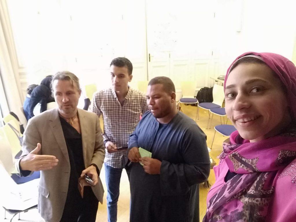 2019 06 14 Egypt Cairo GENEIUS Workshop Rasha Mohamed Senousy Mohamed El Bamby Alexander