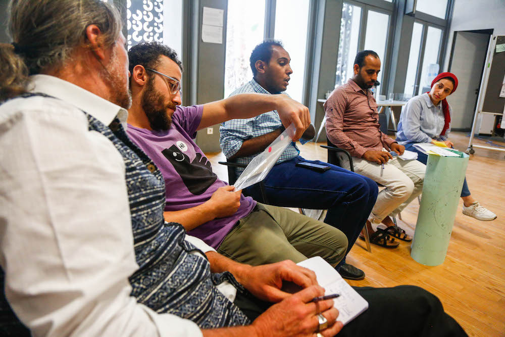 2019 10 19 Egypt Cairo Egyptian Genius Workshop Group Discussion 10