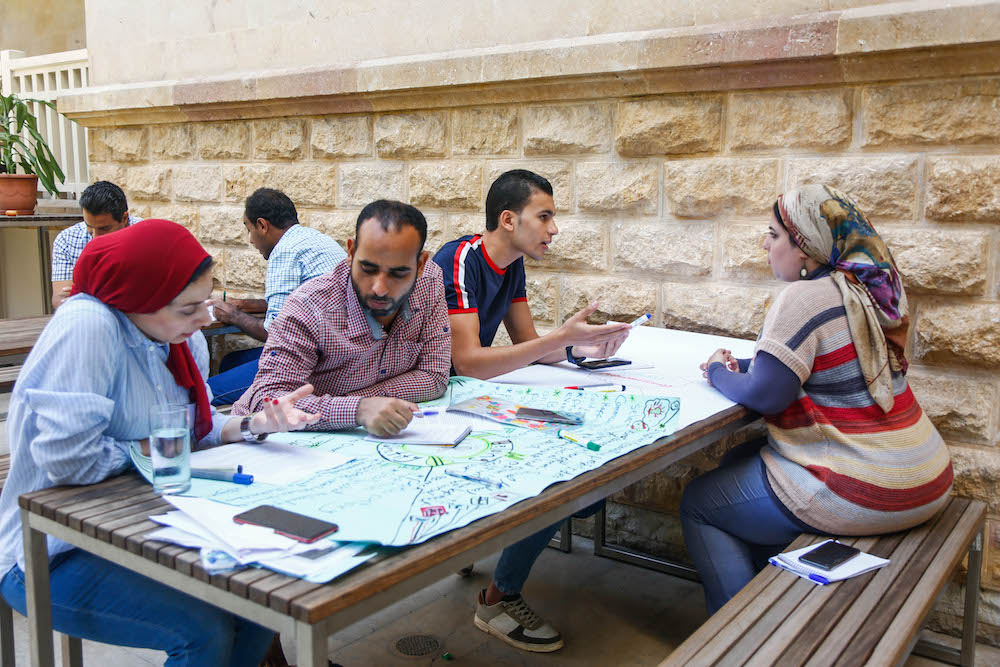 2019 10 19 Egypt Cairo Egyptian Genius Workshop Group Discussion 8