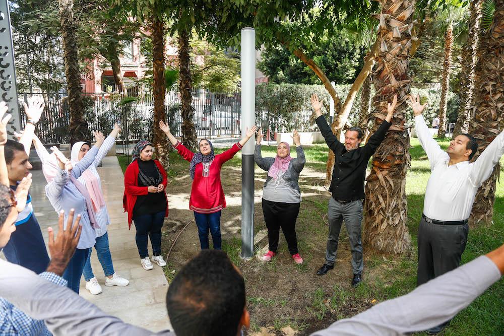 2019 10 19 Egypt Cairo Egyptian Genius Workshop Group Exercise