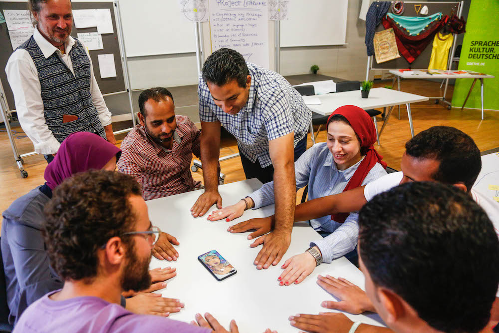 2019 10 19 Egypt Cairo Egyptian Genius Workshop Group Play