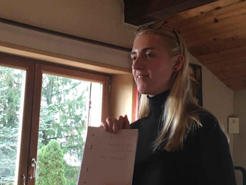 2019 10 28 TA Course St Gallen at H4H Caroline