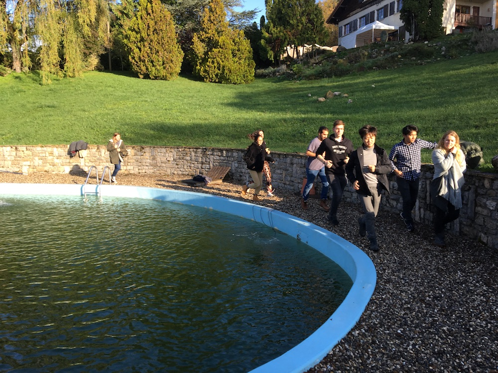 2019 10 28 TA Course St Gallen at H4H Exercise around Pool 1