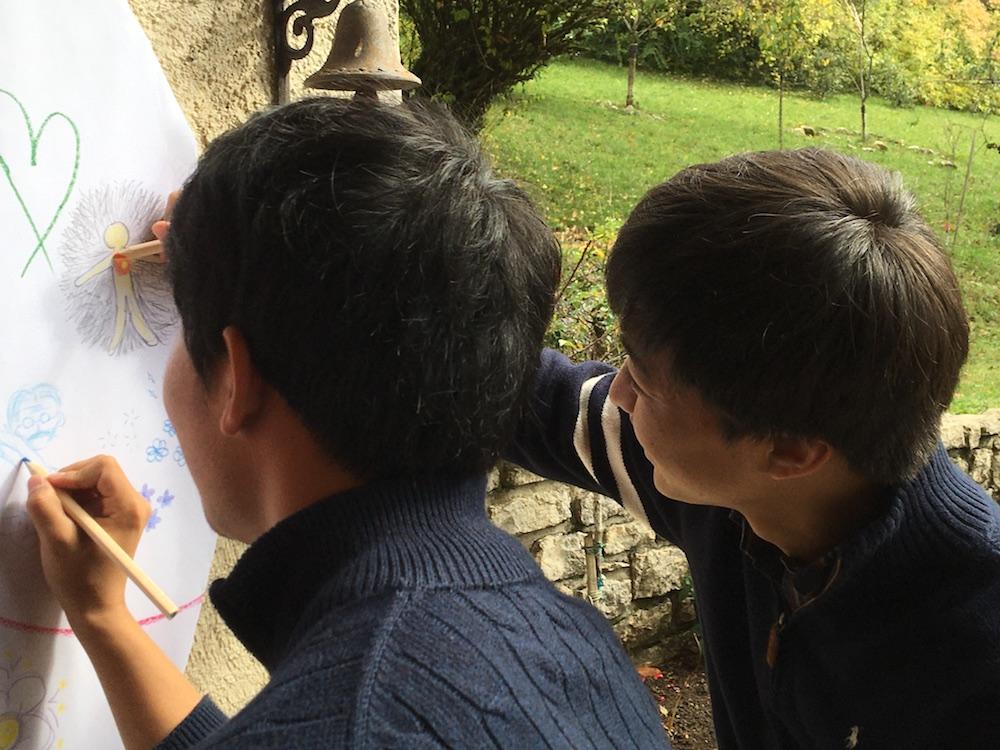 2019 10 28 TA Course St Gallen at H4H Mandala Drawing 2