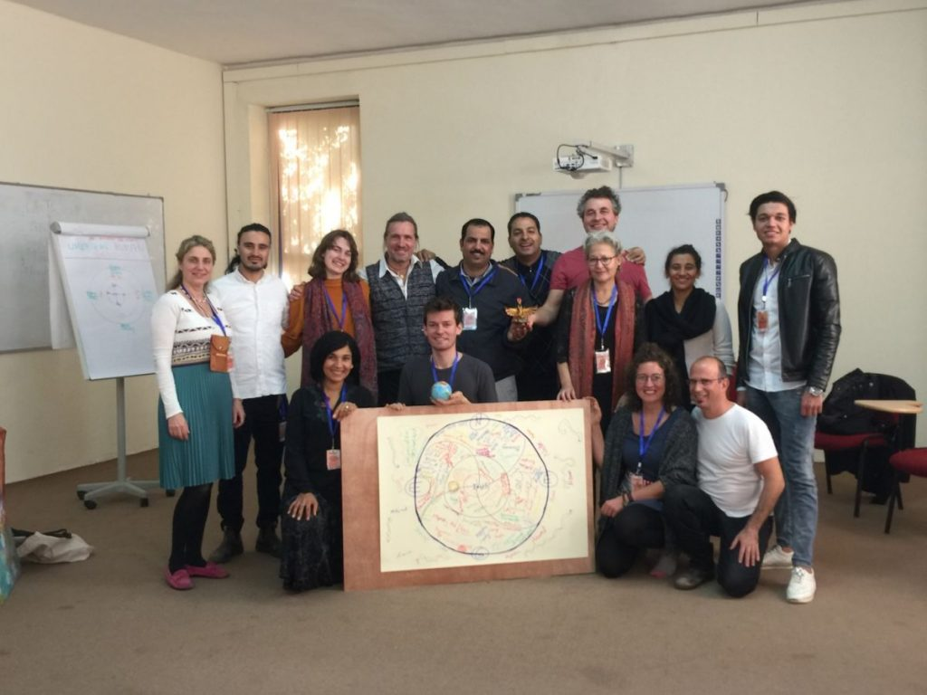 2019 12 13 Egypt Sekem SIF Social Initiatives Forum Workshop Alexander Full Group Pic with Drawing