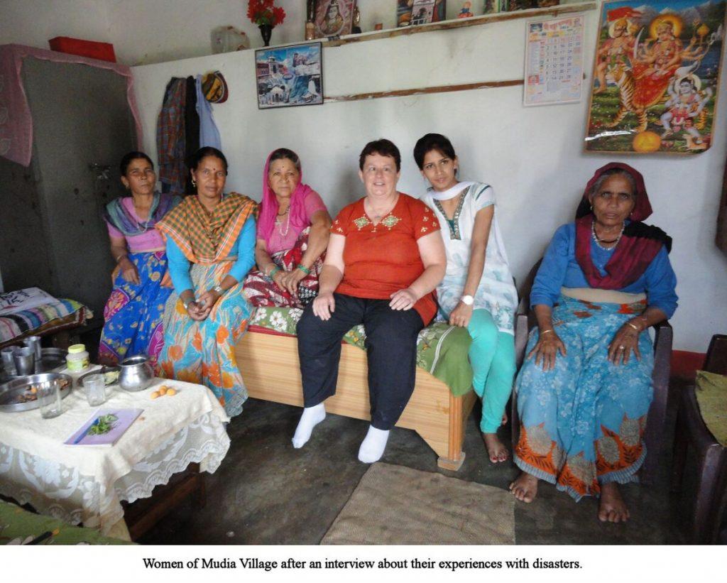 Jean with Women at Mudia Village, Uttarakhand