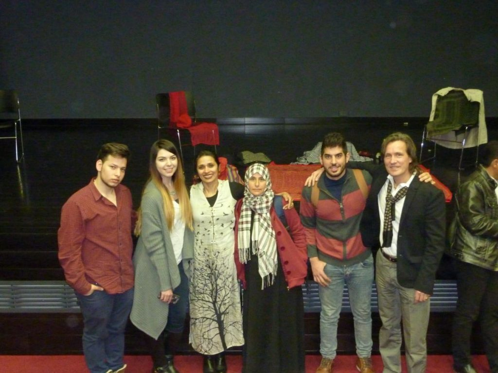 Palestine - Dar Al Kalima with students after workshop