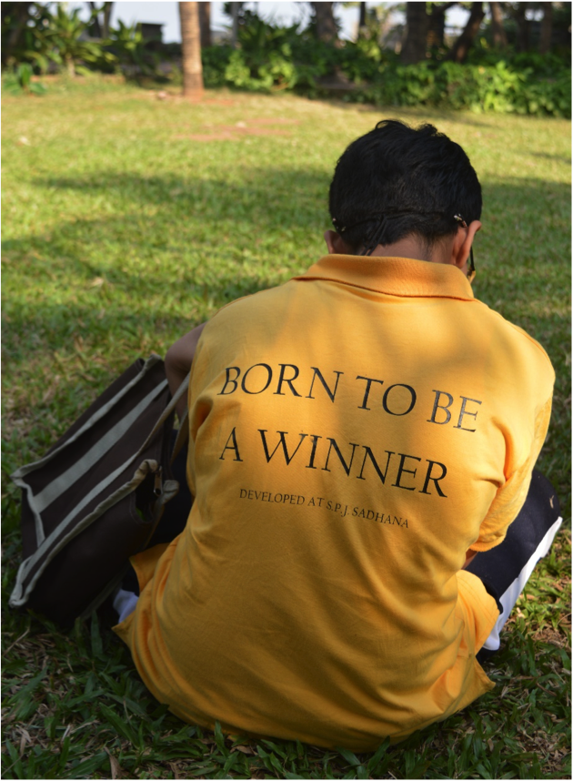 Sadhana's Motto for all its Students: Born to be a Winner