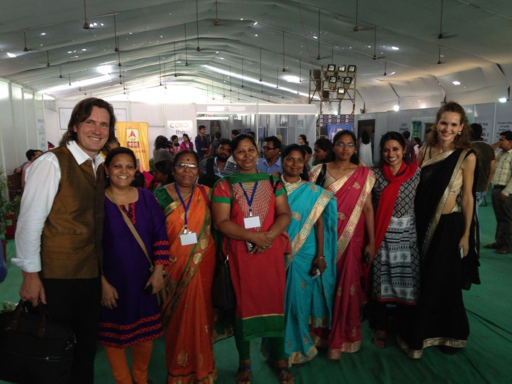 With Coro Team Members and Trans4m Junior Fellow Zarah Kronbach at Coro Grassroots Festival