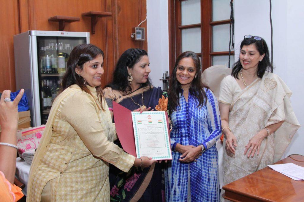 Purnatva Integral Education Booklaunch - Trans4m Care Award to Sadhna Social Innovation Team 2016 06 17