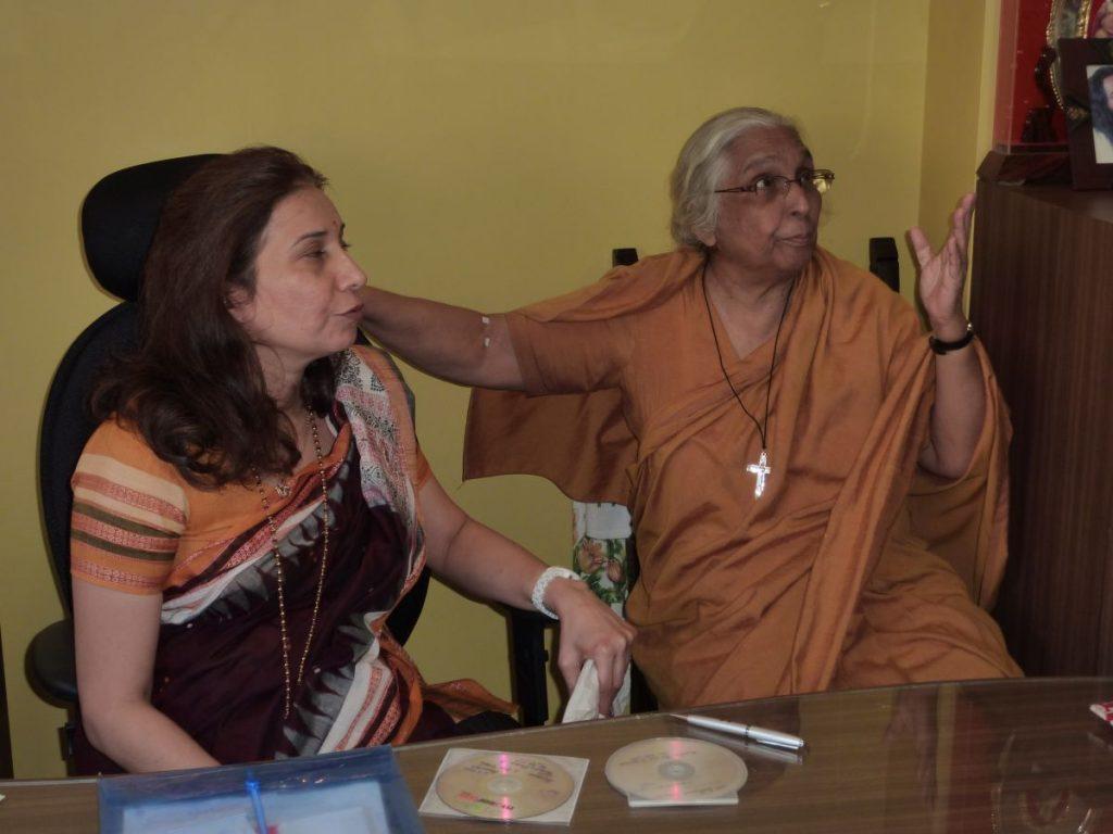 S.P.J. Sadhana School Principal Sister Gaitonde and Vice Principal Dr. Radhike Khanna